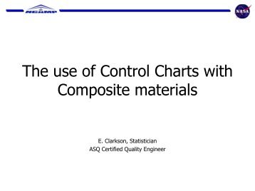 The use of Control Charts with Composite materials