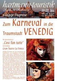 Traumstadt VENEDIG - hartmann-touristik