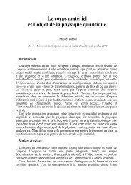 Le corps matériel et l'objet de la physique quantique - STOQ