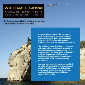 William J. Gregg - Geological & Mining Engineering & Sciences ...