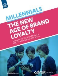 Adroit Millennials Brand Loyalty Study FINAL 03 12 14