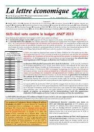 La lettre économique - SUD-Rail