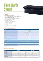 Video Matrix System - Zone Technology