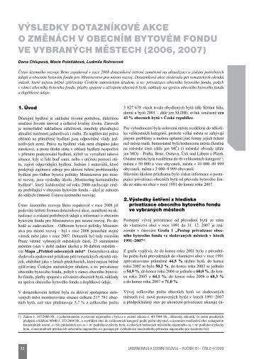 výsledky dotazníkové akce o změnách v obecním bytovém fondu ve ...