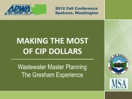 City of Gresham Waste Water Collection System Master ... - pncwa