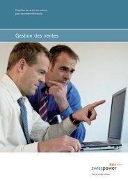 Factsheet Gestion des ventes - Swisspower