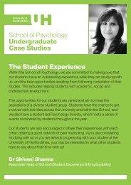 Undergraduate student views - University of Hertfordshire