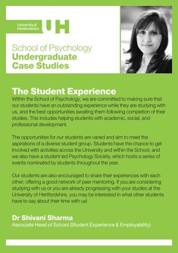 Undergraduate student views - University of Hertfordshire