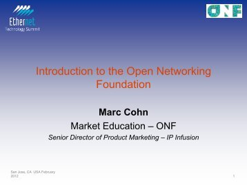 Introduction to the Open Networking Foundation - Ethernet ...