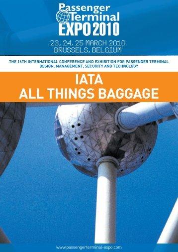 IATA ALL THINGS BAGGAGE - Passenger Terminal Expo
