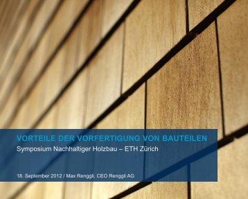 PRODUKTIONSABLAUF HOLZSYSTEMBAU - ETH Zürich