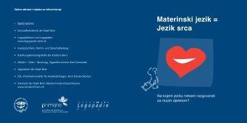 Materinski jezik = Jezik srca - Buchstart