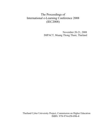 The Proceedings of International e-Learning Conference 2008 ...