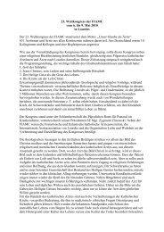 Kongressbericht von PD Dr. R. Giertler - Katholische Ärztearbeit ...