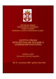 zaštita prava intelektualne svojine u carinskom postupku