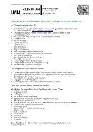 Klinikum der Universität München • Der Vorstand ... - des Klinikums
