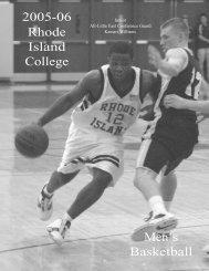 M.Basketball - Rhode Island College Athletics