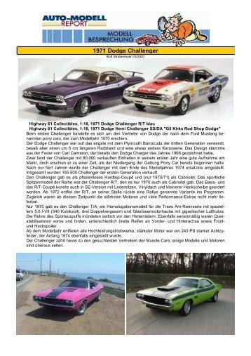 "1971 Dodge Hemi Challenger SS/DA ""Gil Kirks"