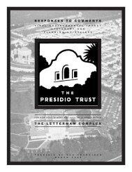 Response to Comments - Presidio Trust