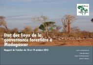 Etat des lieux de la gouvernance forestière à Madagascar - PROFOR