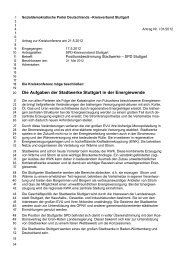 Die Aufgaben der Stadtwerke Stuttgart in der Energiewende