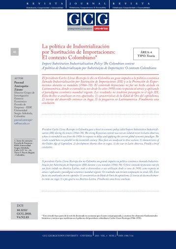 Texto completo - GCG: Revista de Globalización, Competitividad y ...