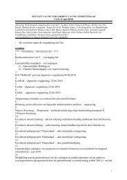 Verslag gemeenteraad 11 mei 2010 - Gemeente Herent