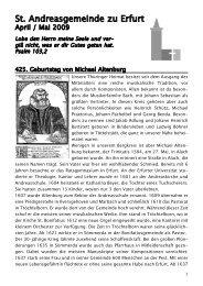 Gemeindebrief April / Mai 2009 - andreasgemeinde-erfurt.de ...