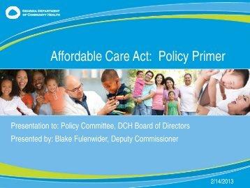 ACA Primer - DCH Board 021413 v5 BTF- FINAL (1).pdf - Georgia ...