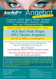 ACE Best Peak Shape HPLC Säulen Angebot - Bartelt