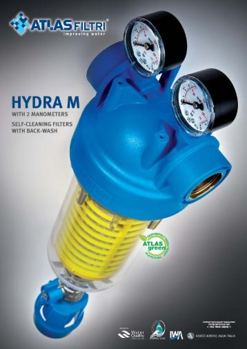 HYDRA M Self-cleaning filters With 2 Manometers