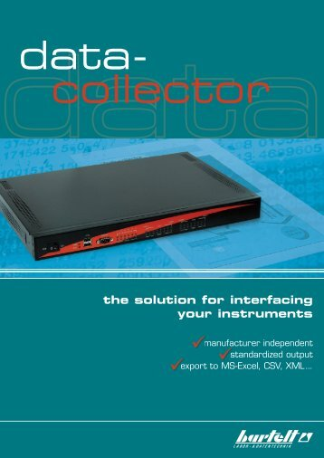 the solution for interfacing your instruments - Bartelt