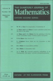Front Matter (PDF) - Quarterly Journal of Mathematics