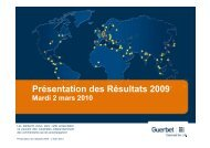 Résultats 2009 & perspectives Mars 2010 - Guerbet