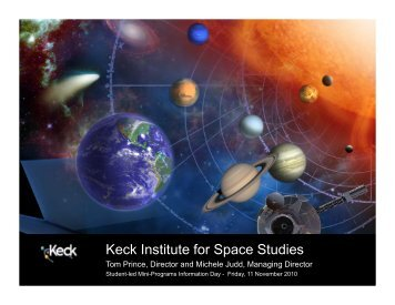 285 attendees - Keck Institute for Space Studies - Caltech