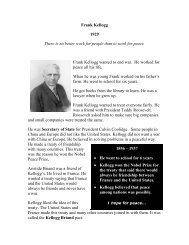 Frank Kellogg 1929 - The Nobel Peace Laureate Project
