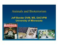 Animals and Bioterrorism - E-learning