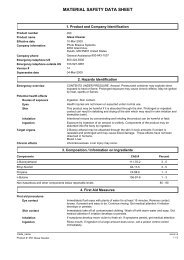 MSDS 050 - Glass Cleaner
