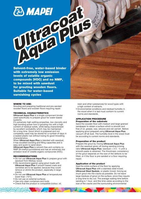 Ultracoat Aqua Plus Ultracoat Aqua Plus - BigMat