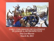 Early Childhood Development: Retrospective