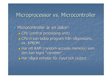 Microprocessor vs. Microcontroller