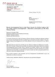 Télécharger la prise de position (PDF 6.3 MB) - PRO VELO Fribourg ...