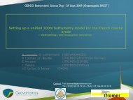Setting up a unified 100m bathymetry model for the ... - Geovariances