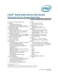 Intel Solid-State Drive 320 Series Enterprise Server/Storage ...