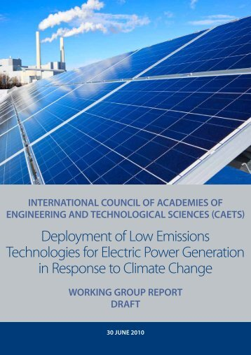 Deployment of Low Emissions Technologies for Electric Power ...