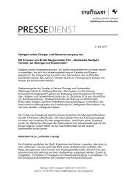 Stuttgart ordnet Energie- und ... - Kommunale Stadtwerke