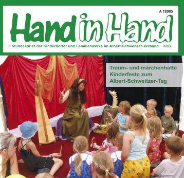 Hand in Hand 03/2003 - Albert-Schweitzer-Verband