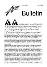 Bulletin Nr. 19 - Über die AGGP