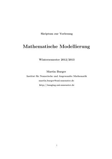 Mathematische Modellierung - Numerische Analysis