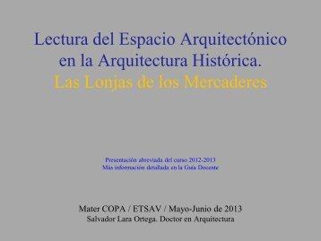 lectura del espacio arquitectónico en la arquitectura histórica